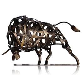 Tooarts Metall Geflochtene Rind Deko Skulptur Dekofigur Moderne Skulptur zum Dekorieren - 1