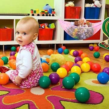 Yuccer Spielzeug Hängematte, Aufbewahrung Netz für Kuscheltiere Hängetasche für Kinder und Kleinkinder Spielzeug Veranstalter Storage Net (Rosa) - 4