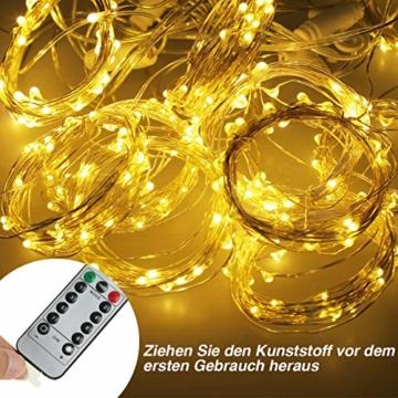 Anpro LED USB Lichtervorhang 3m x 3m, 300 LEDs USB Lichterkettenvorhang mit 8 Lichtmodelle für Partydekoration deko schlafzimmer, Innenbeleuchtung, Warmweiß - 5