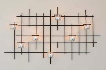 DanDiBo Wandteelichthalter 7XXL Wandkerzenhalter Metall 83 cm Teelichthalter Kerzenhalter - 2