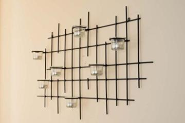 DanDiBo Wandteelichthalter 7XXL Wandkerzenhalter Metall 83 cm Teelichthalter Kerzenhalter - 3