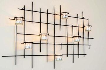 DanDiBo Wandteelichthalter 7XXL Wandkerzenhalter Metall 83 cm Teelichthalter Kerzenhalter - 4