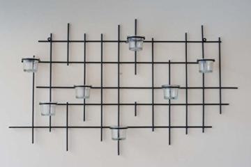 DanDiBo Wandteelichthalter 7XXL Wandkerzenhalter Metall 83 cm Teelichthalter Kerzenhalter - 5