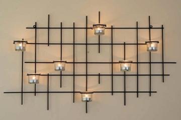 DanDiBo Wandteelichthalter 7XXL Wandkerzenhalter Metall 83 cm Teelichthalter Kerzenhalter - 6