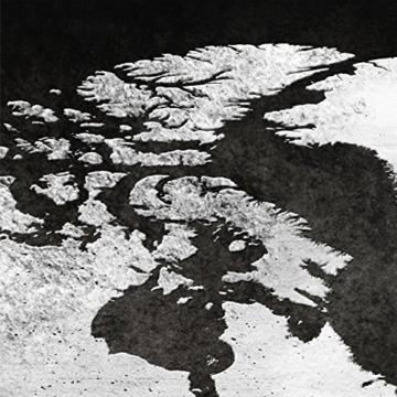 decomonkey Bilder Weltkarte schwarz 225x90 cm 5 Teilig Leinwandbilder Bild auf Leinwand Vlies Wandbild Kunstdruck Wanddeko Wand Wohnzimmer Wanddekoration Deko grau Welt Karte Kontinente Landkarte - 6