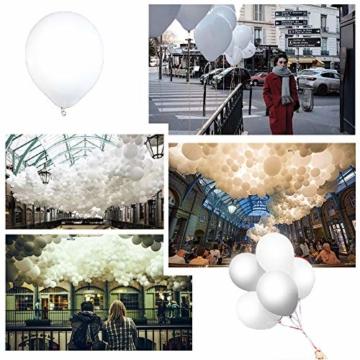 lifeban Leuchtende Luftballons 50 Stück Weiß LED Luftballons Lichter mit Band für Hochzeit Weihnachten Geburtstag Luftballon Party Deko (Weiß) - 7