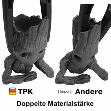TPK Baby Groot Blumentopf Figur - Übertopf Groß Aquarium Deko Figur Holz Aschenbecher Stiftehalter - Innen - 2