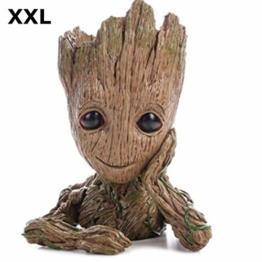 TPK Baby Groot Blumentopf Figur - Übertopf Groß Aquarium Deko Figur Holz Aschenbecher Stiftehalter - Innen - 1