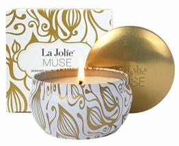La Jolíe Muse Duftkerze Vanille Kokosnuss 100% Sojawachs Kerze in Dose Geschenk 185g 45Std - 1