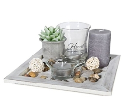 ootb Decor Teelicht Teller Geschenkset, Mehrfarbig, 20x 20x 8 - 1
