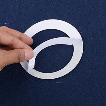 24 Stück Spiegel Wandaufkleber Kreise Rund Wandsticker Wandtatoo Spiegel Wanddeko Wandkunst Selbstklebend Abnehmbar für Schlafzimmer, Wohnzimmer, Haus Deko - 5