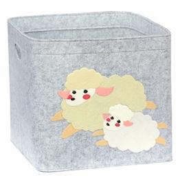 Aufbewahrungsbox Kinder Zimmer/Spielzeug Korb LuckySign-Care (Schaf) - 1