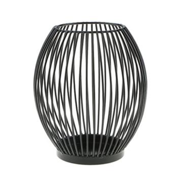 D DOLITY Metall Draht Kerzenleuchter Kerzenhalter, Oval Korb Halter - S - 3