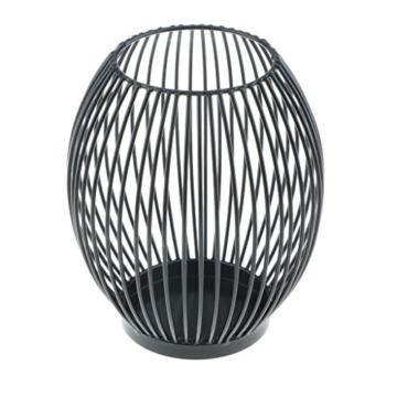 D DOLITY Metall Draht Kerzenleuchter Kerzenhalter, Oval Korb Halter - S - 8