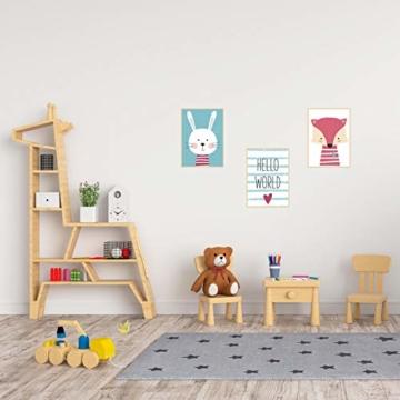Edition Seidel 3er Set Kinderzimmer Poster Babyzimmer DIN A4 ohne Bilderrahmen. Kinderposter Kunstdruck Bild Wandbilder Dekoration Mädchen Junge (Set 6) - 4