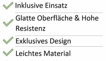 Edle & Hochwertige Pflanzvase/Pflanzkübel - Fiberglas - Mit Einsatz – Indoor – Metallic/Metallisch Blumenkübel/Pflanzgefäß/Vase/Kübel (Klein: 75cm, Silber) - 3