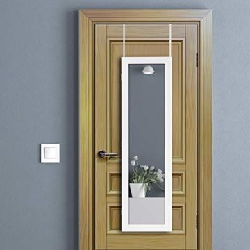 Ezigoo Schmuckschrank mit Spiegel – Schmuckregal zum Aufhängen an Wänden oder Türen - 3