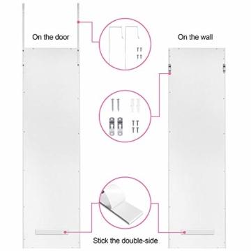 Ezigoo Schmuckschrank mit Spiegel – Schmuckregal zum Aufhängen an Wänden oder Türen - 7