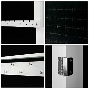 Ezigoo Schmuckschrank mit Spiegel – Schmuckregal zum Aufhängen an Wänden oder Türen - 8