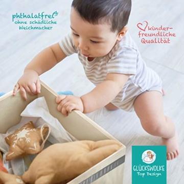 GLÜCKSWOLKE Kinder Aufbewahrungsbox I Spielzeugkiste mit Deckel und Griffe für Kinderzimmer I Spielzeug Box Igel (33x33x33) zur Aufbewahrung im Kallax Regal I Waldtiere Motiv (Eddi Erdigel) - 5