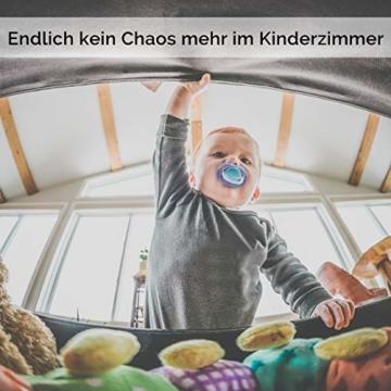 GLÜCKSWOLKE Kinder Aufbewahrungsbox I Spielzeugkiste mit Deckel und Griffe für Kinderzimmer I Spielzeug Box Igel (33x33x33) zur Aufbewahrung im Kallax Regal I Waldtiere Motiv (Eddi Erdigel) - 8