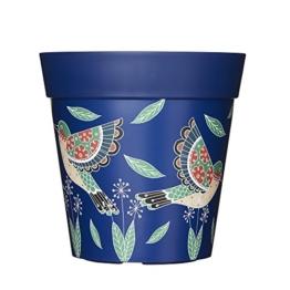 Hum Flowerpots Blumentopf, mittelbunte Pflanzgefäße Kräutertöpfe für drinnen und draußen, mittelgroße Pflanzen 22 cm x 22 cm - 1