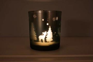 khevga Windlicht Weihnachten aus Glas im 3er Set - 8