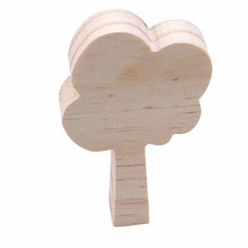 KYMLL 3 Teile/Satz Holz Dekoration Handwerk Spielzeug Kinder Buchstützen Wand Dekor Holz Baum Kinderzimmer Dekoration Ornamente Set von 1 weiß grau dunkelgrau - 4
