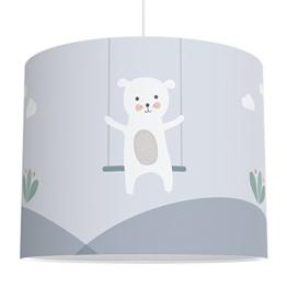 LALAVI Lampenschirm fürs Baby- und Kinderzimmer (Ø 40 cm) - Für Deckenlampe oder Stehlampe - Mit Liebe hergestellt in Deutschland (Blau) - 1