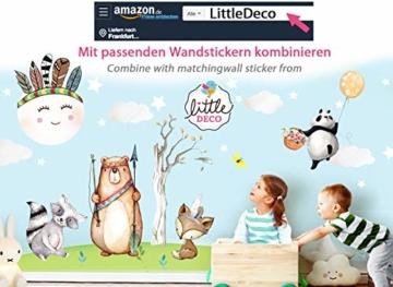 Little Deco Wandsticker Kinderzimmer Mädchen Mond Wolken Sterne I L - 59 x 31 cm (BxH) I Federn Wandtattoo Babyzimmer selbstklebend Wandaufkleber Baby Kinder DL262 - 7