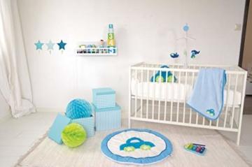 LS-LebenStil Kinder Kleiderhaken Set 3 Sterne Blau 11x11x15cm Wandhaken Garderobe - 3