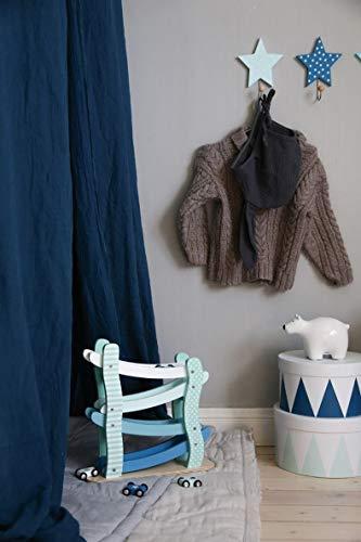 LS-LebenStil Kinder Kleiderhaken Set 3 Sterne Blau 11x11x15cm Wandhaken Garderobe - 4