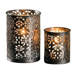 "Metall-Windlicht Paisley"", 2er Set - 1"