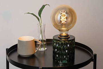Pauleen Crystal Magic Tischleuchte max. 20W Tischlampe für E27 Lampen Nachttischlampe Grün 230V Glas ohne Leuchtmittel 48023 - 2