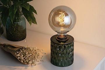 Pauleen Crystal Magic Tischleuchte max. 20W Tischlampe für E27 Lampen Nachttischlampe Grün 230V Glas ohne Leuchtmittel 48023 - 3