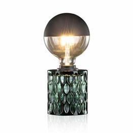 Pauleen Crystal Magic Tischleuchte max. 20W Tischlampe für E27 Lampen Nachttischlampe Grün 230V Glas ohne Leuchtmittel 48023 - 1