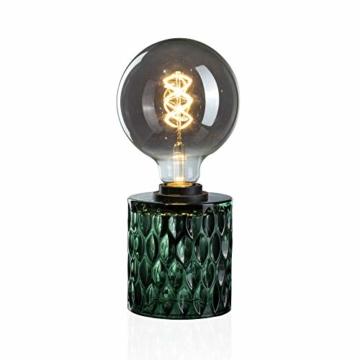 Pauleen Crystal Magic Tischleuchte max. 20W Tischlampe für E27 Lampen Nachttischlampe Grün 230V Glas ohne Leuchtmittel 48023 - 4