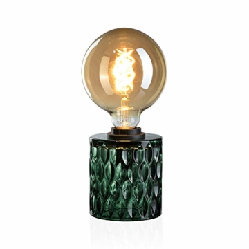 Pauleen Crystal Magic Tischleuchte max. 20W Tischlampe für E27 Lampen Nachttischlampe Grün 230V Glas ohne Leuchtmittel 48023 - 5