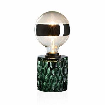 Pauleen Crystal Magic Tischleuchte max. 20W Tischlampe für E27 Lampen Nachttischlampe Grün 230V Glas ohne Leuchtmittel 48023 - 6