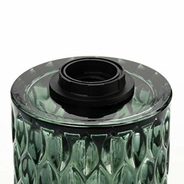 Pauleen Crystal Magic Tischleuchte max. 20W Tischlampe für E27 Lampen Nachttischlampe Grün 230V Glas ohne Leuchtmittel 48023 - 8