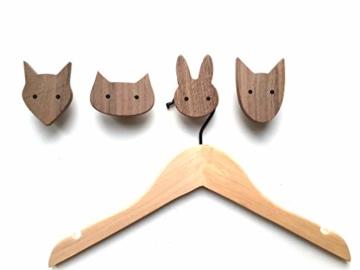 PLT Wandhaken für Kinder aus Holz, Tiere, Kinderzimmer, Fuchs, Hase, Hund, Katze, Deko, Kleiderhaken, Garderobenhaken, Garderobe, Scandi-Style, Geschenkidee - 2
