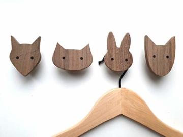 PLT Wandhaken für Kinder aus Holz, Tiere, Kinderzimmer, Fuchs, Hase, Hund, Katze, Deko, Kleiderhaken, Garderobenhaken, Garderobe, Scandi-Style, Geschenkidee - 3
