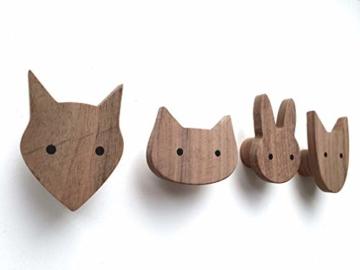 PLT Wandhaken für Kinder aus Holz, Tiere, Kinderzimmer, Fuchs, Hase, Hund, Katze, Deko, Kleiderhaken, Garderobenhaken, Garderobe, Scandi-Style, Geschenkidee - 1