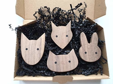 PLT Wandhaken für Kinder aus Holz, Tiere, Kinderzimmer, Fuchs, Hase, Hund, Katze, Deko, Kleiderhaken, Garderobenhaken, Garderobe, Scandi-Style, Geschenkidee - 6