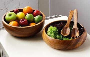 Premier Housewares Kora Fruit, SalatSchüssel, Akazienholz - 2