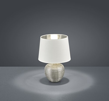 Reality Leuchten R50621089 Luxor, Tischleuchte, Keramik, E14, Silber, 18 x 18 x 26 cm - 2