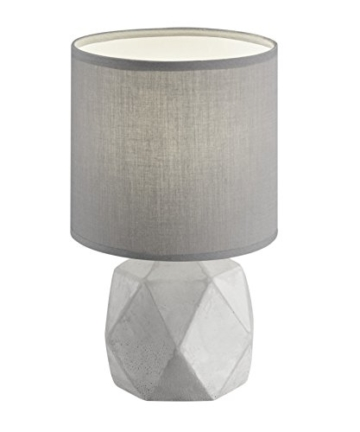 Reality Leuchten Tischleuchte, Keramik^Stoff, E14, Schirm grau, 16 x 16 x 28 cm - 1