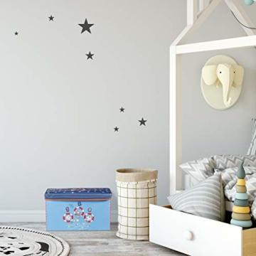 Relaxdays Sitzbox Kinder, Faltbare Aufbewahrungsbox mit Stauraum, Deckel, Motiv Tiere, Jungen & Mädchen, 50 Liter, gelb, 36 x 60,5 x 30,5 cm - 3
