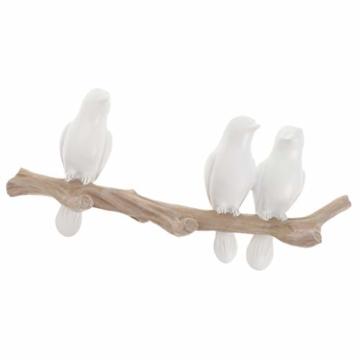 SM SunniMix Vögel auf Baum Design Garderobenhaken Kleiderhaken Wandhaken Mantelhaken, bis 4 Vögel - 3 Vögel - 3