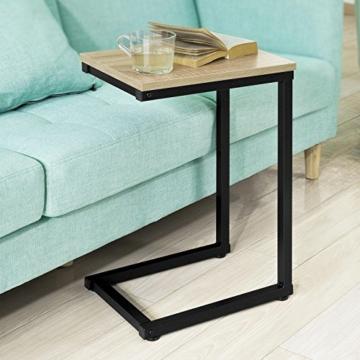 SoBuy® FBT44-N Betttisch Beistelltisch Kaffeetisch Sofatisch Laptoptisch Pflegetisch BHT ca: 30x60x40cm - 3